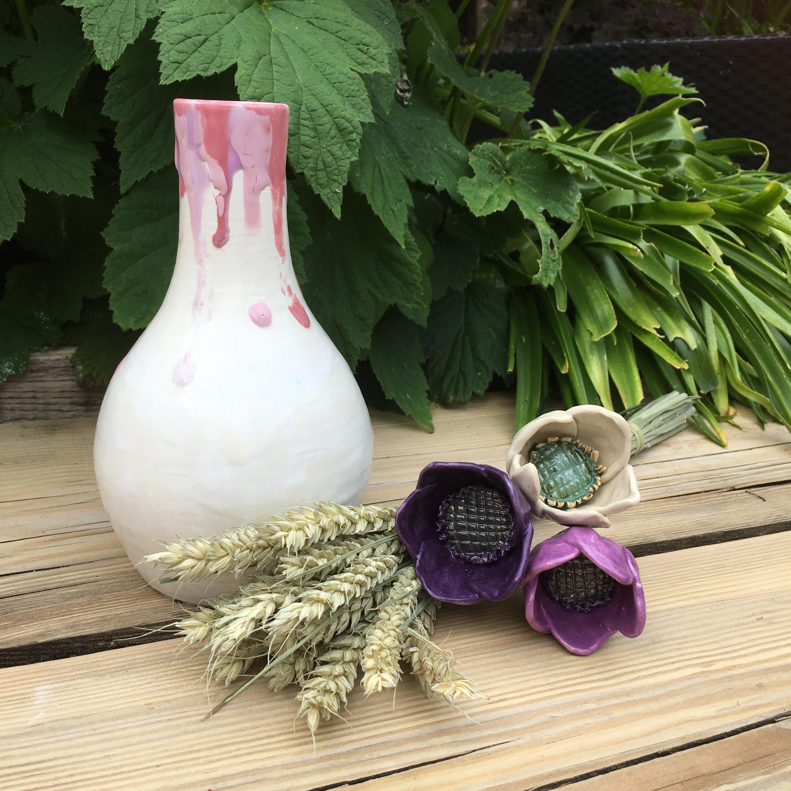 pastel ceramic vases